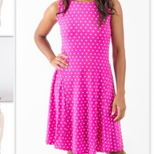 Ebza pink polka dot dress